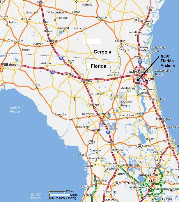 Location North Florida Archers Jacksonville Florida Archery - North florida map